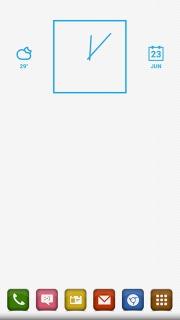 White Simple Squares Apk Theme Mobile Theme