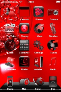 Red Abstract Orquis IPhone Theme Mobile Theme