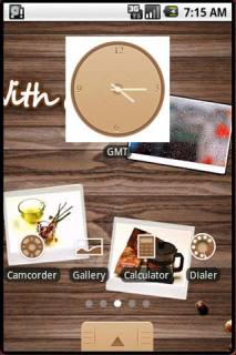 Beverage & Clock Android Theme Mobile Theme