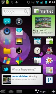 Purple Diamond Comb Android Theme Mobile Theme