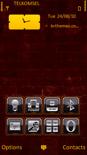 Red Bricks Abstract S60v5 Theme Mobile Theme