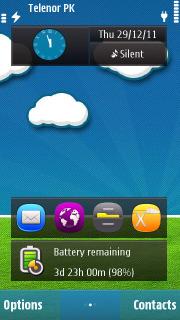 3D Nature Field Green S60v5 Theme Mobile Theme