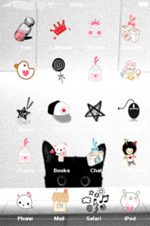 Cute Black Cat IPhone Theme Mobile Theme