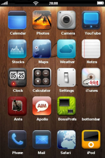 Apple Wood Abstract IPhone Theme Mobile Theme