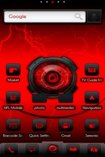 Red 3D Digital Soul Android Theme Mobile Theme
