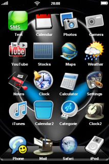 Alien & Blue Eyes Apple IPhone Theme Mobile Theme