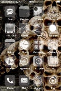 Skulls Heads Free IPhone Theme Mobile Theme