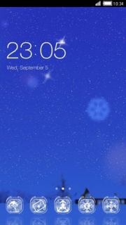 Stars & Night Blue Sky Android Theme Mobile Theme