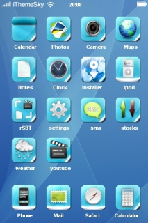 Blue 3D Abstract IPhone Theme Mobile Theme