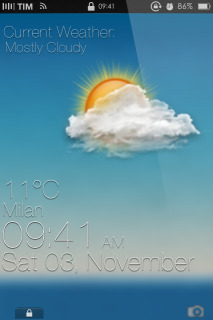 Soar Weather Time Blue IPhone Theme Mobile Theme