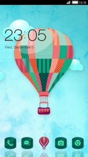 Hot Air Balloon Colors Design Android Theme Mobile Theme
