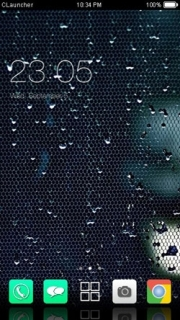 Wet Glass Screen Android Theme Mobile Theme