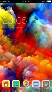 Abstract Rainbow Explosion Android Theme Mobile Theme