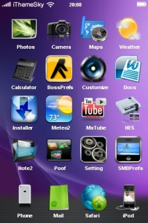 Aurora Colors Design IPhone Theme Mobile Theme