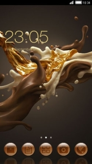 Yummy Chocolate Splash Free Android Theme Mobile Theme