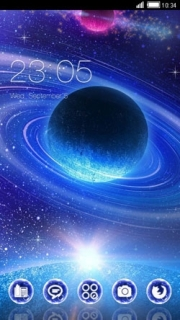 Galaxy Sparkle Space Android Theme Mobile Theme