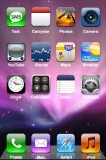 Purple Lights Leopard ICons IPhone Theme Mobile Theme