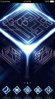 Light Cube 3D Digital Free Android Theme Mobile Theme