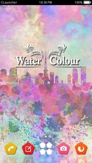 Screen Water Colors 3D Art Android Theme Mobile Theme