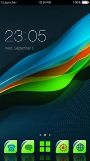 Color Waves Digital Android Theme Mobile Theme