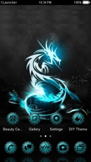 Dragon Lights Blue Android Theme Mobile Theme