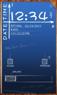 Sketch Time & Date Android Theme Mobile Theme
