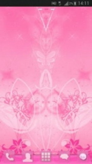 Pink Flowers Abstract Android Theme Mobile Theme