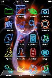 Digital Color Fireball IPhone Theme Mobile Theme