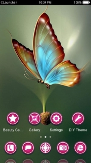 Butterfly 3D Color Android Theme Mobile Theme