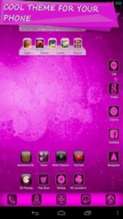 Cyanogen Pink Abstract Android Theme Mobile Theme