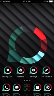 Stripe Abstract Design Black Android Theme Mobile Theme