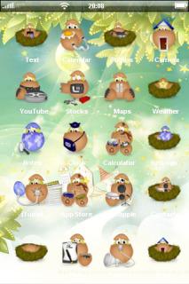 Eggs Nest Lovely IPhone Theme Mobile Theme