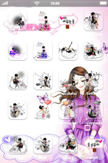 Purple Fashion Girls ICons IPhone Theme Mobile Theme