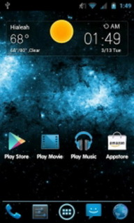 Blue 3D Blast Free Android Theme Mobile Theme