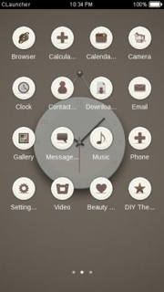 Brown White Watch ICons Android Theme Mobile Theme