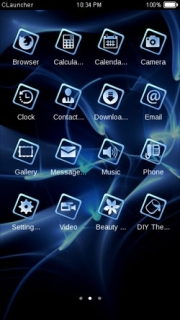 Lights Blue Effects Abstract Android Theme Mobile Theme