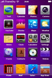 Purple Background Abstract IPhone Theme Mobile Theme