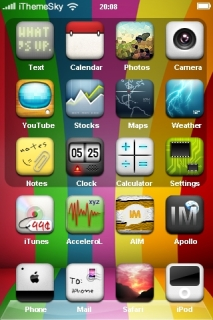 Rainbow Stripes Design IPhone Theme Mobile Theme