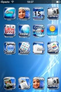 Blue Stripes Lines Luminic IPhone Theme Mobile Theme