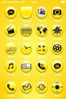 Yellow Style ICons Abstract IPhone Theme Mobile Theme