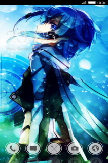 Anime Fighter Blue Art Android Theme Mobile Theme