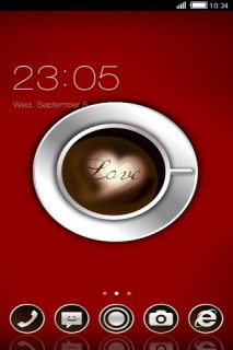Love Coffee With Sweet Heart Android Theme Mobile Theme