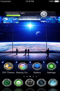 Science Space Free Android Theme Mobile Theme