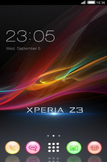 Xperia Z3 Colors Art Android Theme Mobile Theme