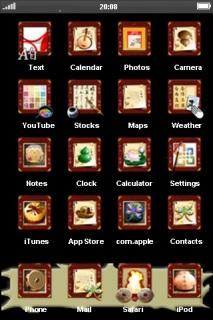 Simple Black Dead IPhone Theme Mobile Theme