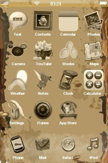 3D Old Texture Vintage IPhone Theme Mobile Theme
