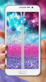 Glitter Zipper Lock Free Android Theme Mobile Theme