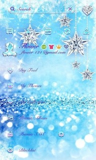 Glitters Blue And Stars 3D Android Theme Mobile Theme