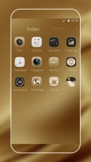 Golden Brown IPhone Icons Screen Android Theme Mobile Theme