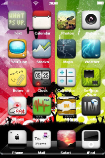 Colorful Background IPhone Theme Mobile Theme